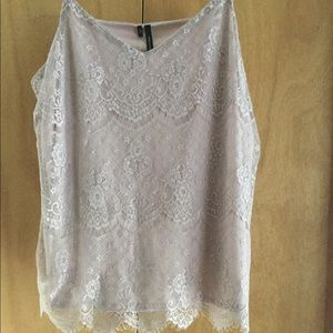 New Maurice's Lace Cami Tank Top XXL Beige